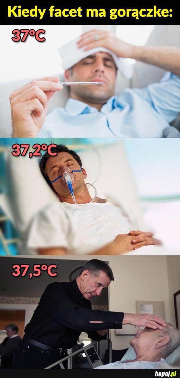 Gorączka u faceta