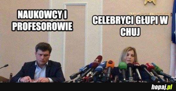 Naukowcy vs celebryci