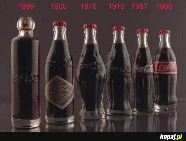 Ewolucja butelki Coca-Coli