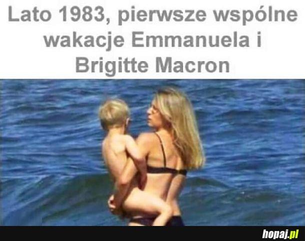 Macron 1983, koloryzowane