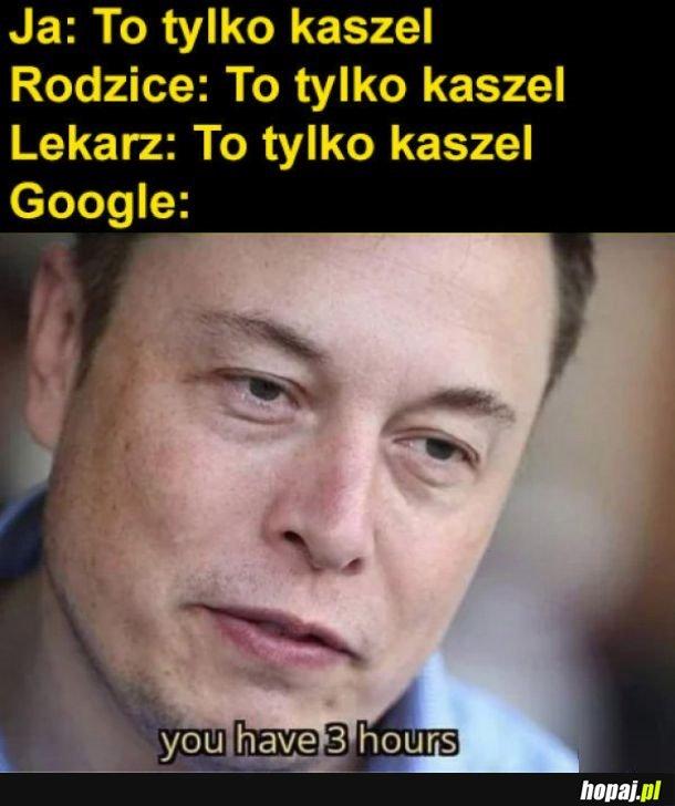 Objawy google