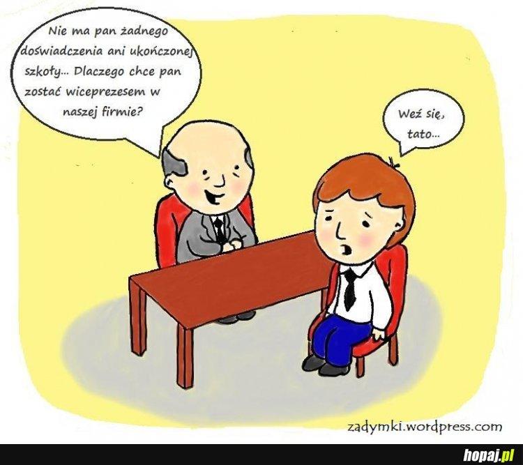 Rozmowa kwalifikacyjna [FB: Zadymki - webkomiks]