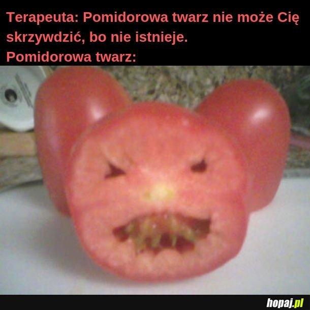 Pomidorowa twarz