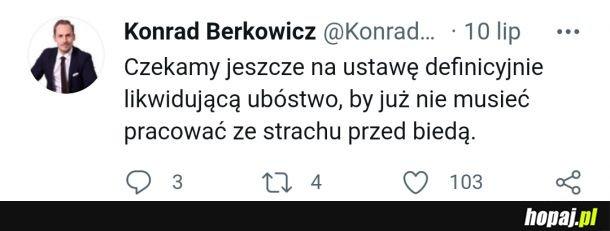 Znowu celne podsumowanie Berkowicza z Konfederacji o działaniach PiS