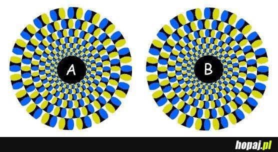 Które kółko się obraca? A czy B?