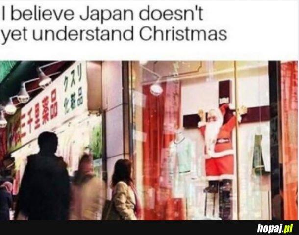 Japonia nie do końca chwyta Boże Narodzenie.