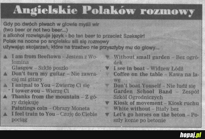 Angielskie Polaków rozmowy