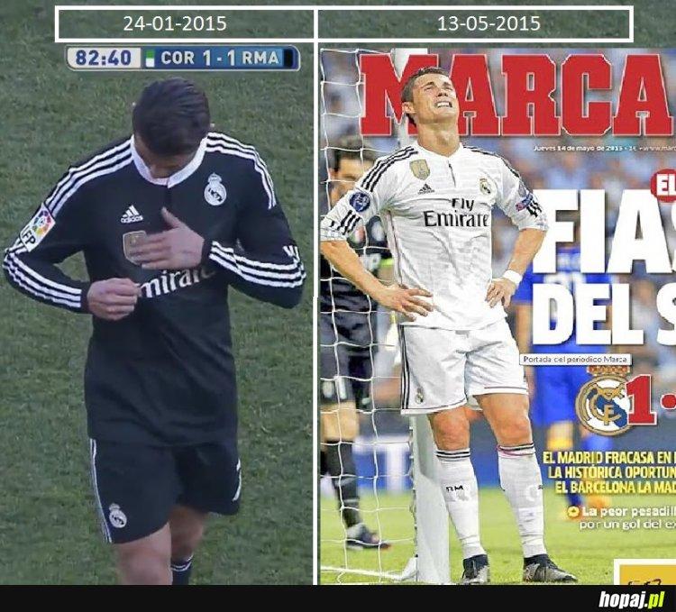 Arogancja Ronaldo nie zna granic ale...dopóki piłka w grze