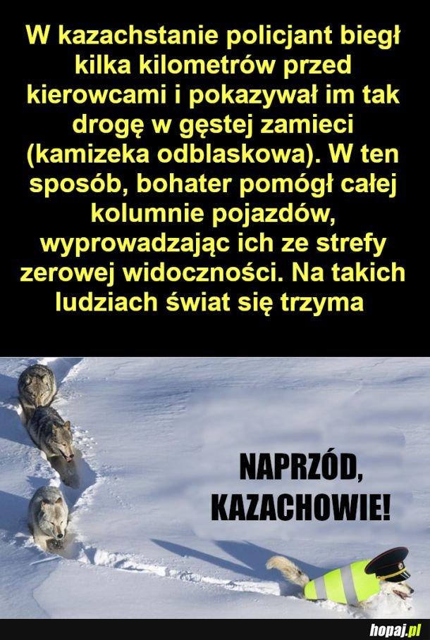 Potężny Kazach - Policjant