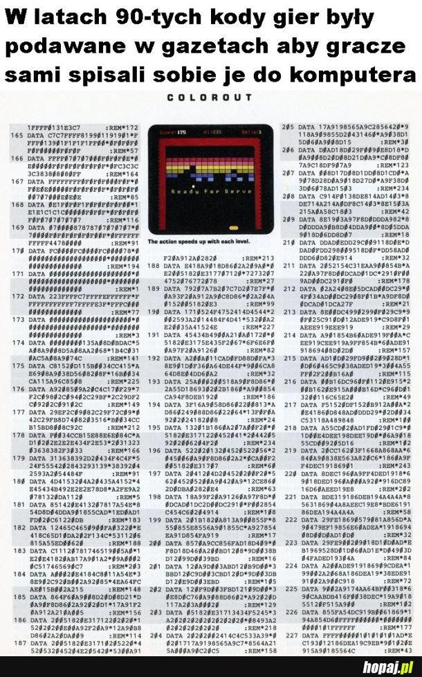 Kody gier w gazetach