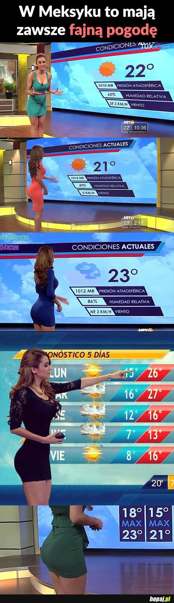 W Meksyku to mają zawsze fajną pogodę