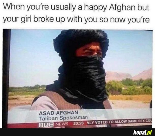 Smutny Afgańczyk.