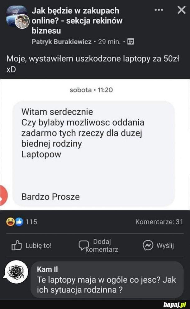Biedna rodzina laptopów