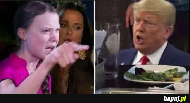 Greta vs Trump