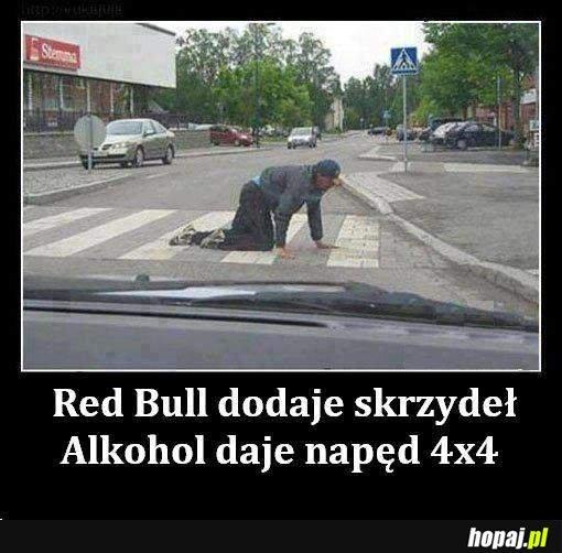 Alkohol dodaje napęd 4x4