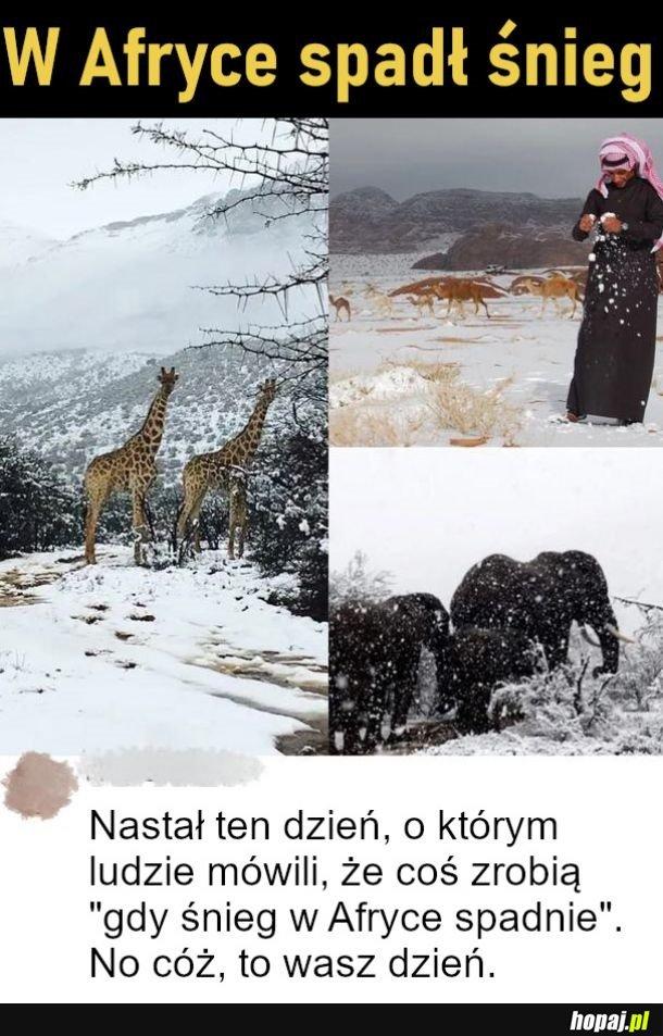 W Afryce spadł śnieg