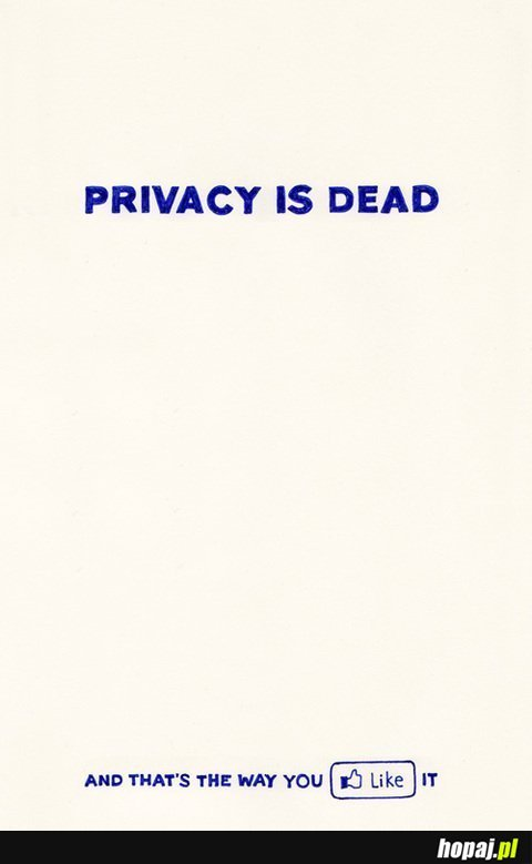 Privacy is dead