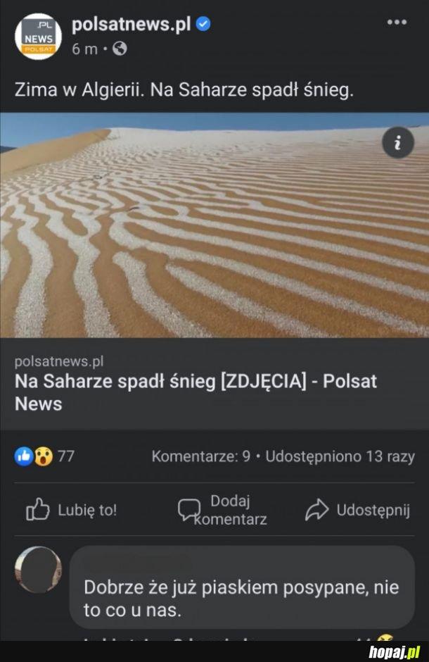Posypane piaskiem