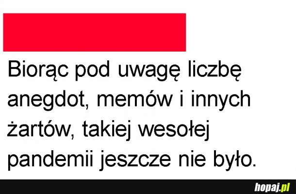 """Wesoła"" pandemia"