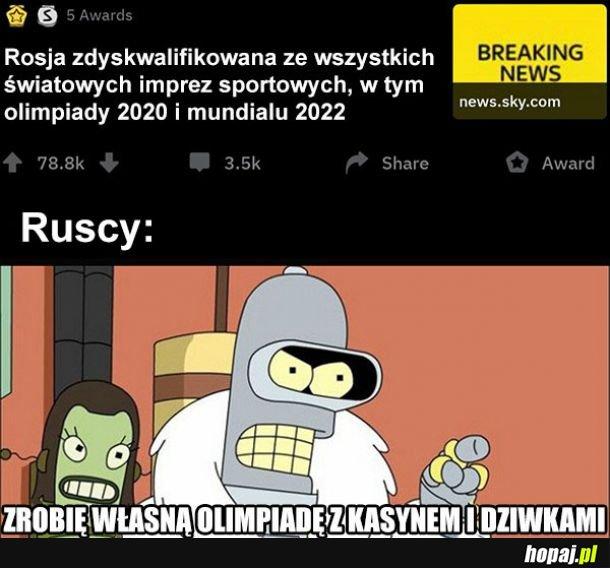 Rosja zdyskwalifikowana