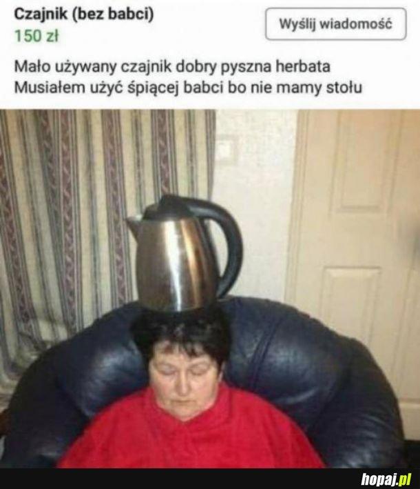 Sprzedaż czajnika