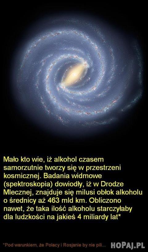 Alkohol w kosmosie