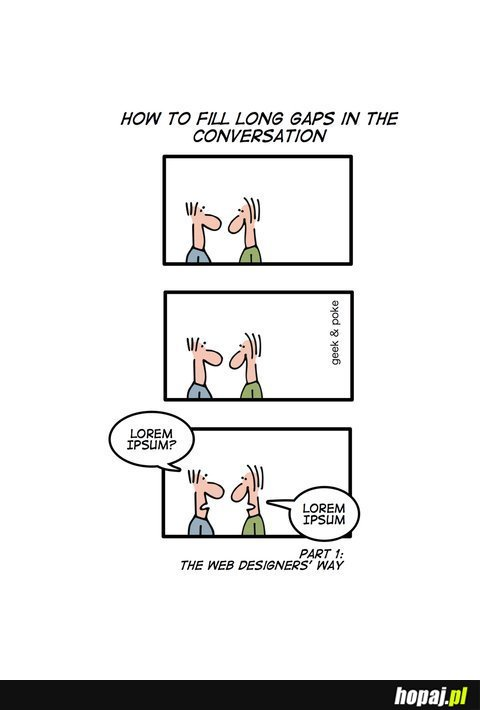 Sposób na zapełnienie luki w konwersacji dwóch web designerów
