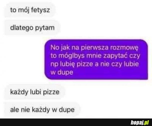 Każdy lubi pizze