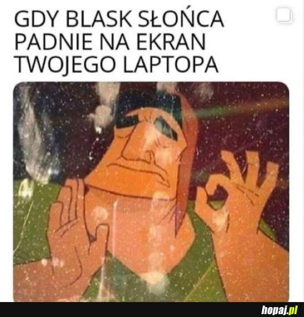 Laptop mój tak ma