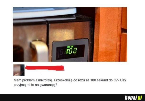 Problem z mikrofalą