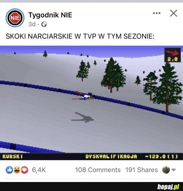 Skoki w TVP