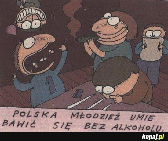 Polska młodzież umie bawić się bez alkoholu