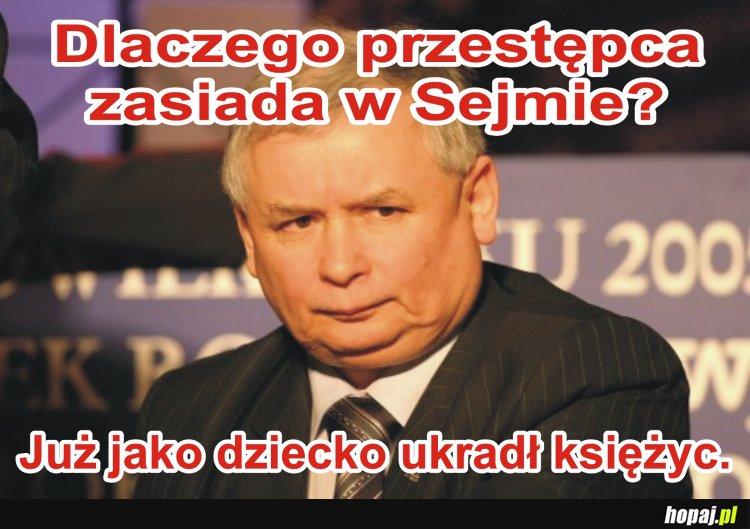 Przestępca w Sejmie.