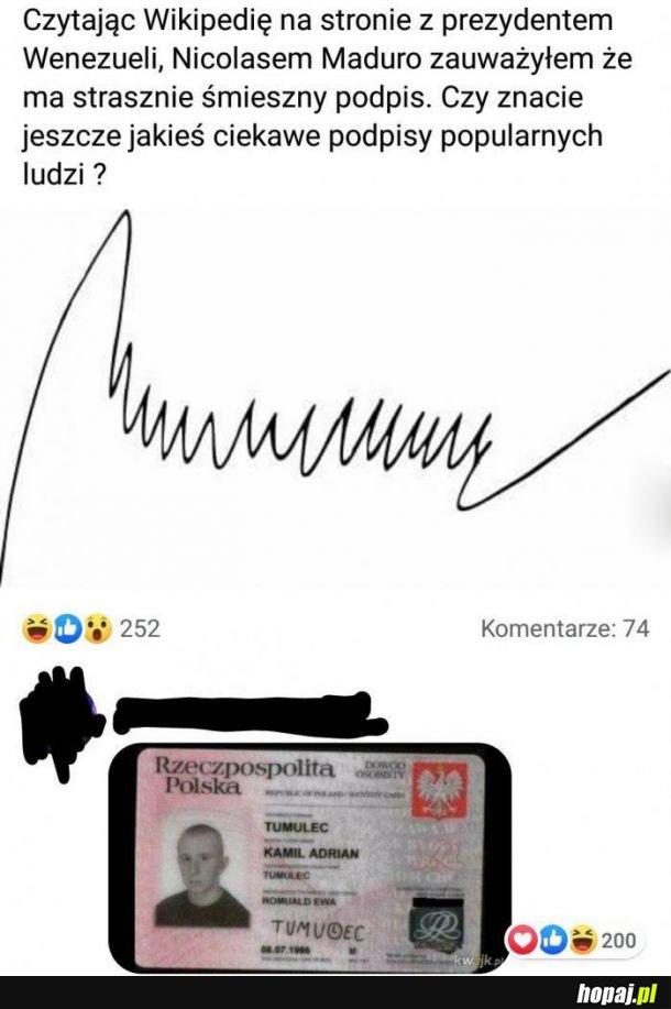 Popularny podpis